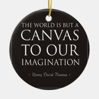 Canvas To Our Imagination Ceramic Ornament
