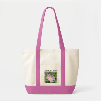 Canvas Tote Bag Wild Montana Rose Pink