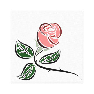 Canvas Wall Art: A Single Rose