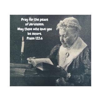 CANVAS WALL ART PRAY FOR JERUSALEM ISRAEL FAITH