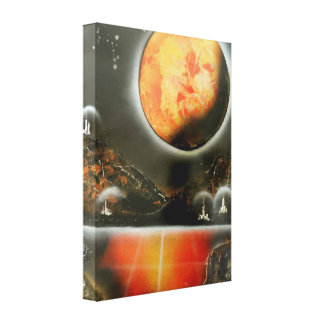 Canvas wall hanging/sci-fi gallery wrap canvas