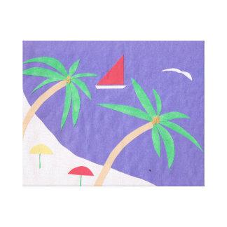 Canvas with Beach Scene Canvas Print