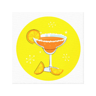 Canvas with hand drawn Cocktail Art Canvas Print