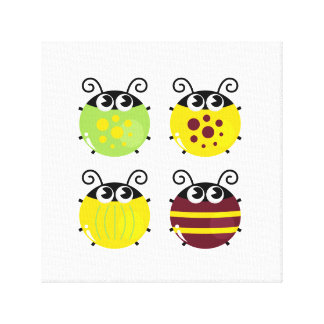 Canvas with little Bees Canvas Print