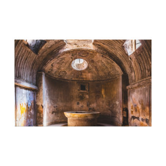 Canvas Wrap - Roman Baths - Ancient Pompeii, Italy