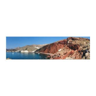 Canvas Wrap - Santorini Red Beach - Greece