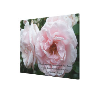 Canvas - Wrapped - Blush Rose with Quote