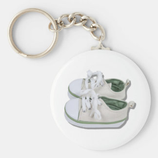 CanvasBabyShoes101610 Basic Round Button Key Ring