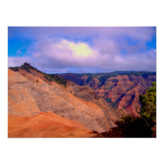 Canyon Crevices Poster