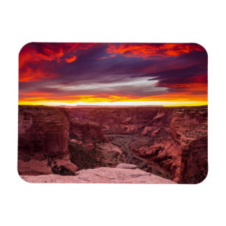 Canyon de Chelly, sunset, Arizona Rectangular Photo Magnet