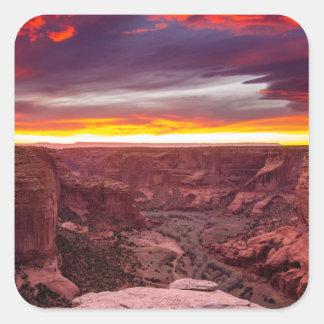 Canyon de Chelly, sunset, Arizona Square Sticker