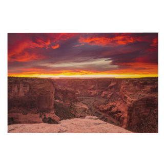 Canyon de Chelly, sunset, Arizona Wood Wall Art