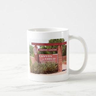 Canyon de Chelly Visitor Center sign, Arizona Coffee Mug