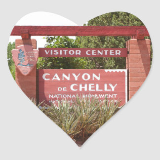 Canyon de Chelly Visitor Center sign, Arizona Heart Sticker