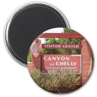 Canyon de Chelly Visitor Center sign, Arizona Magnet