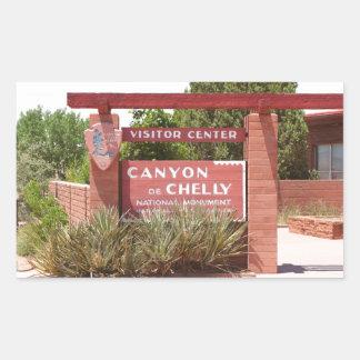 Canyon de Chelly Visitor Center sign, Arizona Rectangular Sticker