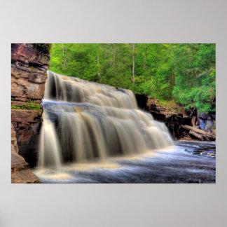 Canyon Falls, Michigan. Poster