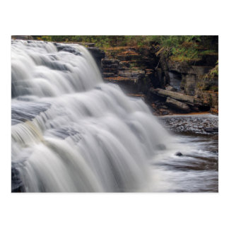 Canyon Falls On The Sturgeon River Near L'Anse Postcard