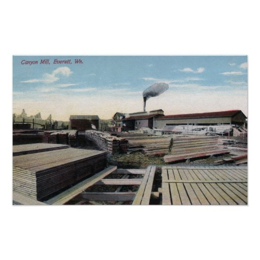 Canyon Lumber Mill Scene Posters