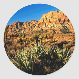 Canyon Red Rock Nevada Classic Round Sticker