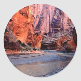 Canyon River Bend Paria Classic Round Sticker