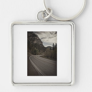 canyon_road Silver-Colored square key ring