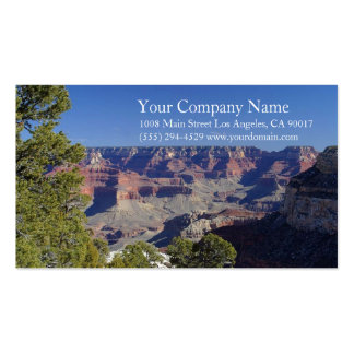 Canyon Rocky Desert Blue Sky Trees Pack Of Standard Business Cards