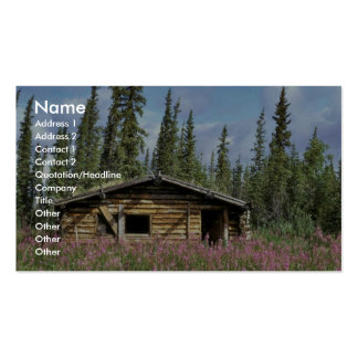 Canyon Village log cabin Business Cards