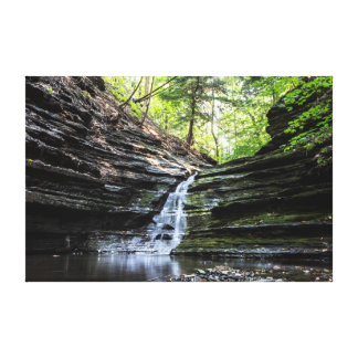 Canyon waterfall stretched canvas print
