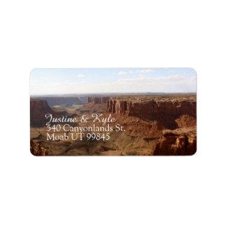 Canyonlands Couple Address label