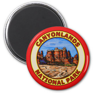 Canyonlands National Park 6 Cm Round Magnet