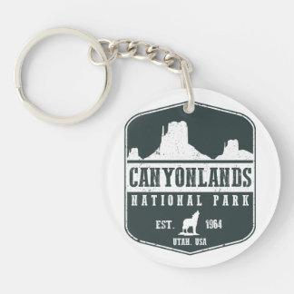 Canyonlands National Park Double-Sided Round Acrylic Key Ring