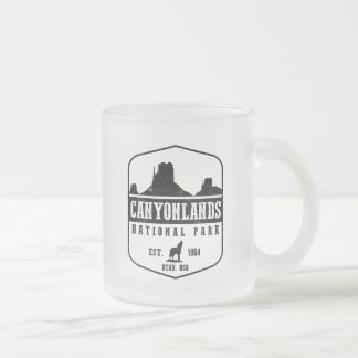 Canyonlands National Park Frosted Glass Coffee Mug
