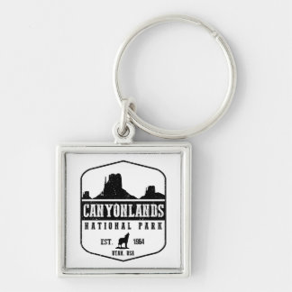 Canyonlands National Park Silver-Colored Square Key Ring
