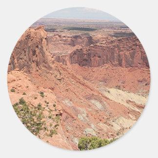 Canyonlands National Park, Utah, Southwest USA 6 Round Sticker