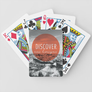 Canyons | Discover New Horizons Quote Bicycle Playing Cards