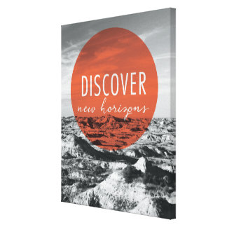 Canyons | Discover New Horizons Quote Canvas Print