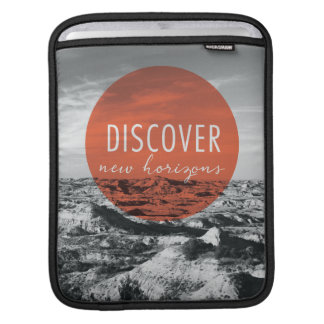 Canyons | Discover New Horizons Quote iPad Sleeve
