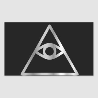 Cao dai Eye of Providence- Religious icon Rectangular Sticker
