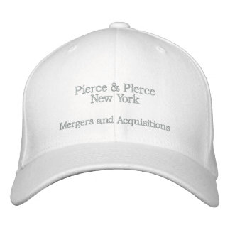 Cap - American Psycho - Pierce & Pierce - Limited Embroidered Baseball Caps