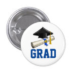 Cap and Diploma 1 Inch Round Button