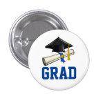 Cap and Diploma 3 Cm Round Badge