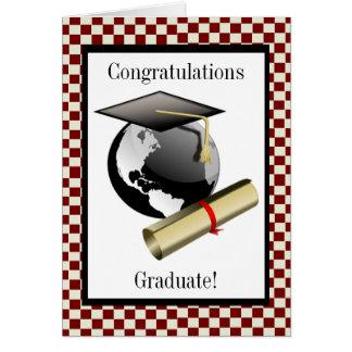 Cap and Diploma Greeting Card