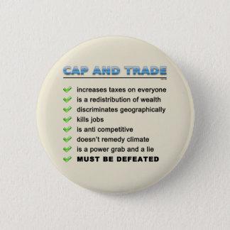Cap And Trade Scam 6 Cm Round Badge