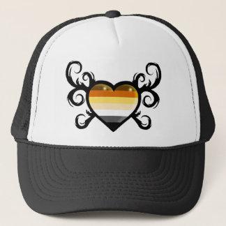 cap bear flag heart