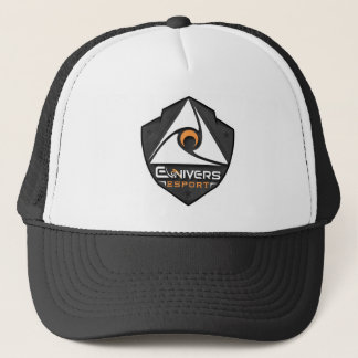 Cap black and white with logo