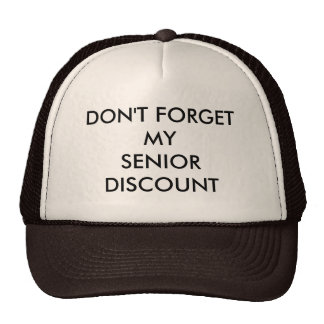 CAP, BROWN, SENIOR DISCOUNT CAP