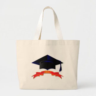 Cap Class Of 2017 Large Tote Bag
