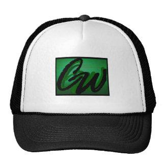Cap-CW black and white ball cap. Cap