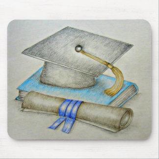 cap Graduation Mouse Pad
